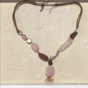 Silpada necklace with natural stones